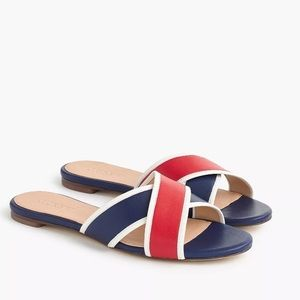NWT JCrew Cora crisscross Sandal Red Blue 8